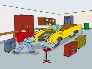 Dellenteam-Comic mit einer Szene aus der Werkstatt eines Dellentechnikers