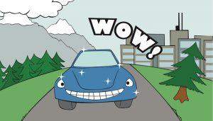 Dellenteam-Comics: Auto ohne Hagelschaden lacht